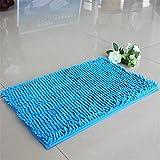 Alfombrilla de baño absorbente de espuma viscoelástica suave para baño, dormitorio, ducha, decoración para baño, entrada, baño, alfombra de oruga azul, 40 x 60 cm