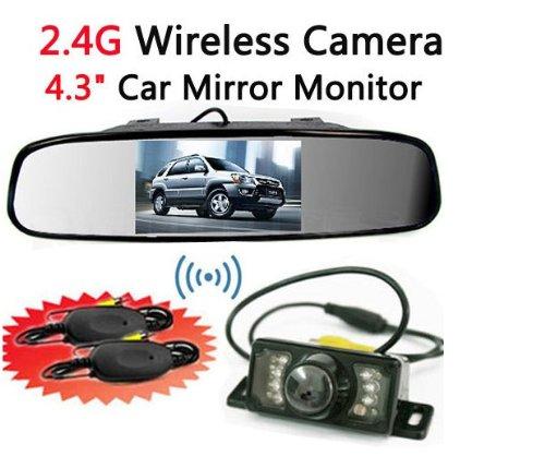 BW Kit caméra de recul sans fil avec vision nocturne infrarouge / écran TFT LCD de 4,3 pouces