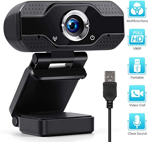 1080P HD Webcam USB Webcam Desktop Laptop Camera Live Streaming Webcam Built-in Mic Widescreen HD Video Webcam