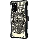 TurtleArmor   Compatible with Samsung Galaxy S20 Case 6.2   Samsung Galaxy S11e Case [Hyper Shock] Rugged Hybrid Shell Kickstand Case Holster Belt Clip Robot Military Army - Military Skull