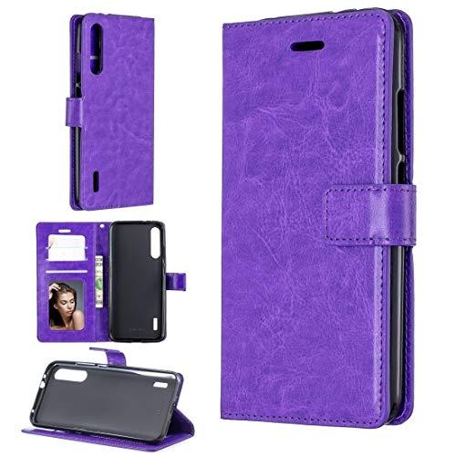 Dmtrab Phone Case para XIAOMI MI 9T / MI 9T Pro/REDMI K20 / REDMI K20 Pro Caja de la Billetera, Funda de Cuero Horizontal de la Textura del Caballo Loco con el Soporte y Las tragamonedas de Las tarj