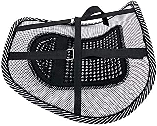 Lumbar Support Mesh (with buckle), Back Support Mesh Back Cushion Breathable Comfortable Adjustable for All Types Car Seat...