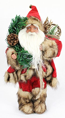 Weihnachtsmann Deko Weihnachtsmänner Figur ca. 30cm Nikolaus Santa Claus| 6 verschiedene Modelle zur Auswahl (Santa)