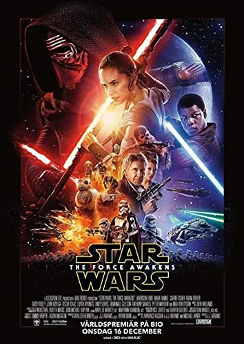 Star Wars : The Force Awakens – Swedish Imported Movie Wall Poster Print - 30CM X 43CM Episode 7 VII