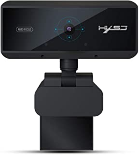 HD Pro Webcam with Microphone - Full HD 1080P Video Calling & Recording USB Desktop Laptop Camera, Support Work with Net Meeting and MSN, Yahoo and Skype Software (Black)