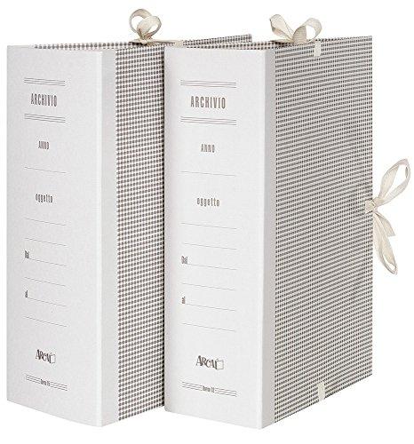 Arca 0015 Cartella Archivio con Lacci Incollati, 25 Pezzi, Dorso 15, carta/cartone, 240 x 340 mm