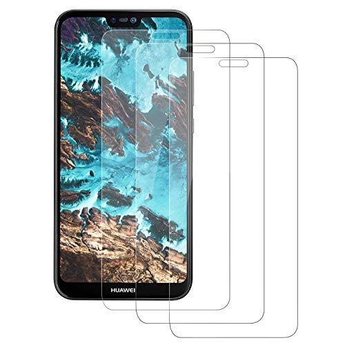 Aspiree Vetro Temperato Compatibile con Huawei P20 Lite [Anti-Graffo/Olio/Impronta], Pellicola Vetro Temperato con 9H Durezza Protezione Elevata per Huawei P20 Lite-3 Pack