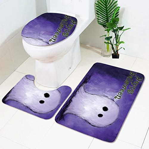 REXUN Bathroom Mats 3 Piece Bath Mats Set Non Slip Pedestal Mat Toilet Seat Cover Mat