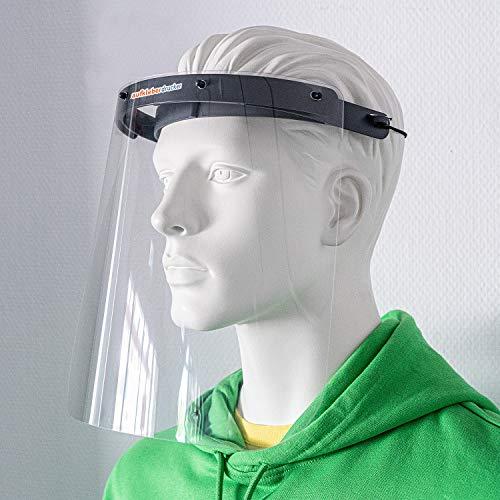 (1 Stück) Professionelles Gesichtschutz-Visier hochtransparent von aufkleberdrucker/stempel-fabrik