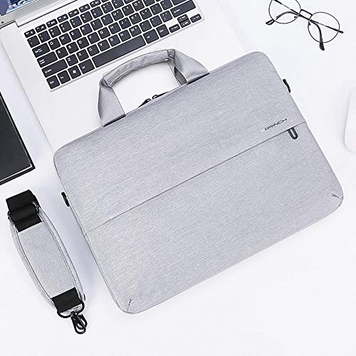 Men's and Women's Clamshell Laptop and Tablet Shoulder Bags, Business Bag briefcases with Handles, specifically Designed to Hold 15-15.6 inches, black-15.6in_Gray