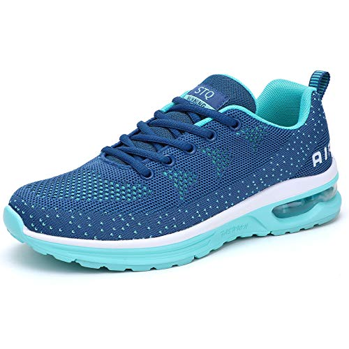 Women Running Shoes Crossfit Athletic Shoes. Navy Aqua Size 6