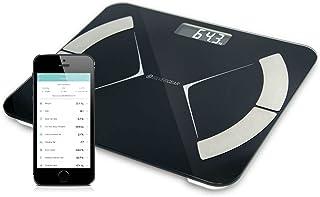 Silvergear Slimme Personenweegschaal, Digitale Bluetooth Weegschaal met App, Slimme Weegschaal met Lichaamsanalyse Meet BM...