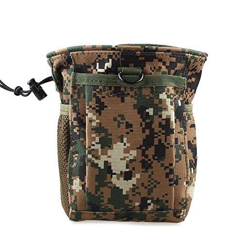 Greenpromise Großes Fassungsvermögen Molle Military Tactical Tasche Paintball Jagd Zusammenklappbar Mag Recovery Dump Tasche Camping Klettern Staubbeutel, Jungle Digital