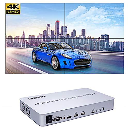 4K 2x2 KVM HDMI videowand Controller Spieler Unterstützt SD-Karte U Disk Signal Video Wall prozessor Unterstützung 1x1, 1x2, 1x3, 1x4, 2x2, 2x1, 3x1, 4x1