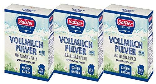 Saliter Alpen-Vollmilchpulver, 3er Pack (3 x 250g)
