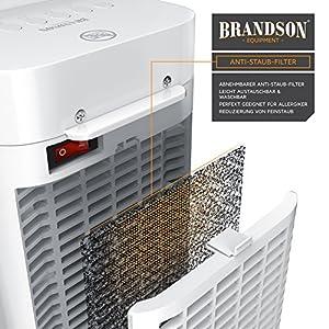 Brandson - Heizlüfter mit Fernbedienung - Keramik-Heizlüfter Badezimmer energiesparend leise - Schnellheizer mit Oszillationsfunktion - 2X Heizstufen - Timer - Heizung Heater - GS-Zertifiziert