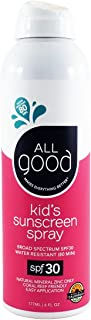 NEW All Good SPF 30 Kids Sunscreen Spray, Water Resistant,6 Fl Oz (Pack of 1)
