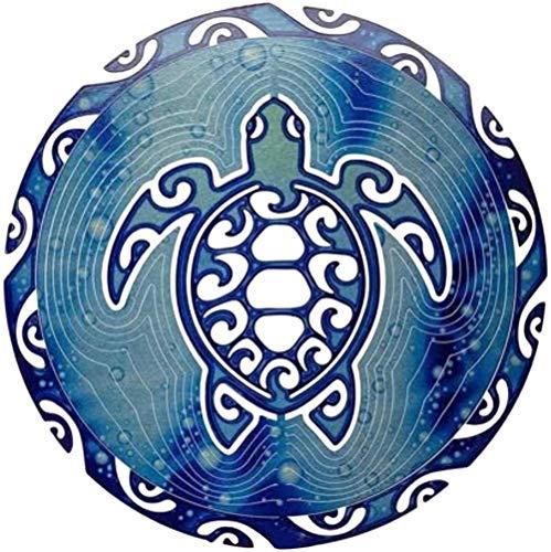 Hukailgs 1 x Tortuga de mar giratoria de viento de metal con diseño de tortuga, giratoria, giratoria, plegable, para decoración de jardín, para la familia, sala de estar de los niños