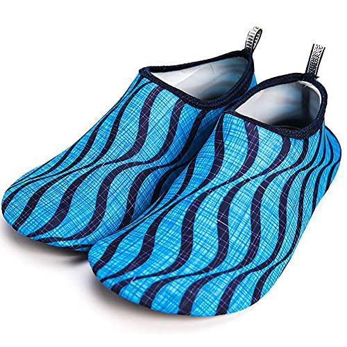 DAQAXGAO Unisex Aqua Shoes Zapatos de Agua, Calcetines de Playa de Secado rápido Aqua Calcetines Descalzos para la Playa al Aire Libre Nadar Surf Ejercicio de Yoga,A,42/43