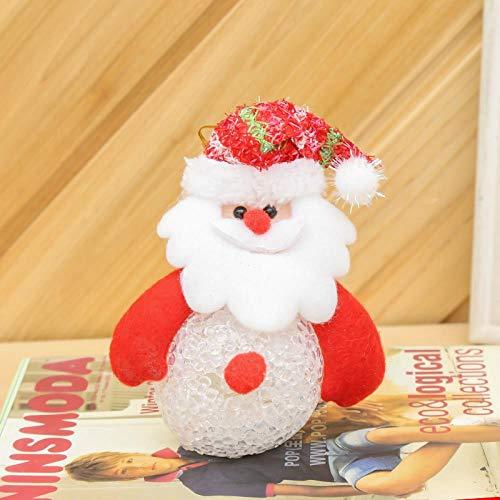 SZNYD Weihnachtsbaum Dekoration Anhänger Weihnachten leuchtende Schneemann Puppe mit Lichtern Puppe Anhänger Ornamente 4 geführt, die älteren Menschen
