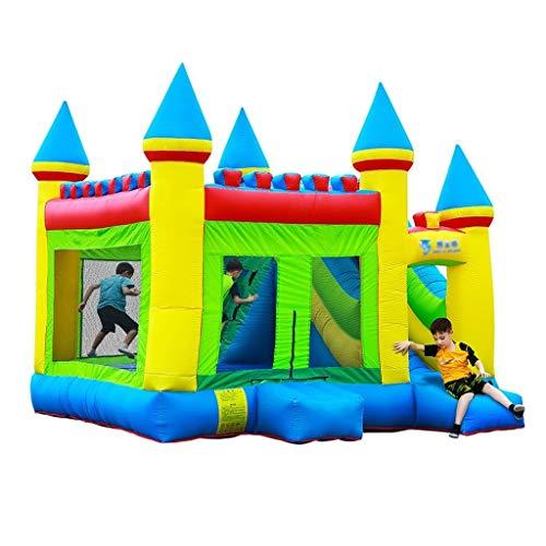 Hüpfburgen Aufblasbare Burg Kindergarten aufblasbares Trampolin große aufblasbare spielzeuge Outdoor kinderrutsche vergnügungspark ausrüstung (Color : Green, Size : 410 * 380 * 410cm)