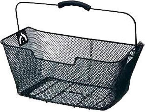 Fox Parts Hinterradkorb Ergo-Griff- abgeschrägte Seiten- Federklappenausschnitt, schwarz, 40x28x18cm, 05100400