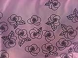 Fancy Pink Tüllstoff mit Samt-Blumen-Glitzer-Design ~ 2,7