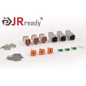 NORTHEAST DIRECT Deutsch 6 pin Connector DT Series Waterproof 14-20 AWG DT04-6P DT04-6S