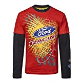 OMSE T-Shirt à Manches Longues pour Ford Fiesta Extreme Rally Cross Rouge/Noir XS Red