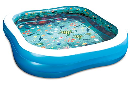 Summer Waves 103'x69'x18' 3D Rectangular Family Pool with 1 Pair of 3D Goggles.
