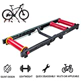 GAOLIQIN Home Bike Trainer Stand, Road Bike, Indoor Cycling Bike,Bike Roller Riding Platform Adjustable Training Platform Road Bike Folding Indoor Fitness Equipment