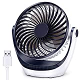 Aluan Desk Fan Small Table Fan with...