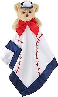 Bearington Baby Lil' Slugger Snuggler, Baseball Plush Teddy Bear Stuffed Animal Security Blanket, Lovey 15