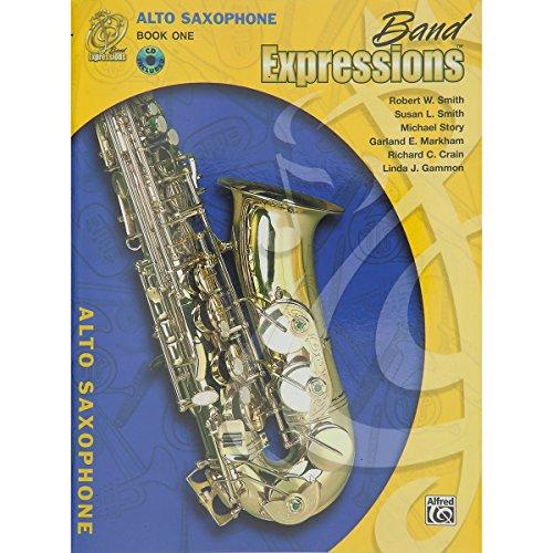 Alfred banda Expresiones libro One Student Edition para saxofón alto libro y CD