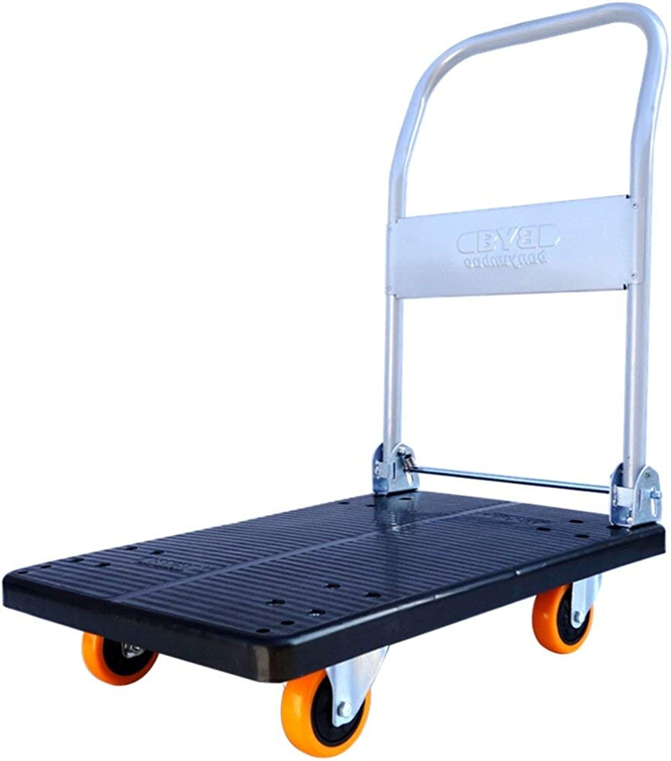 Trolley, Home Discount Platform Hand Trolley Folding Truck Cart Heavy Duty Flat Bed Transport for Easy Transportation Heavy Lifting