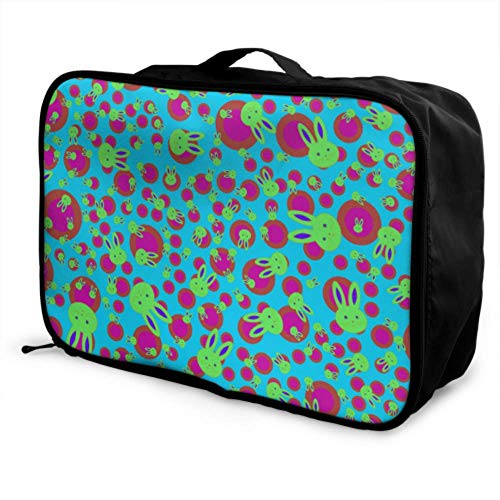 Custom Best Travel Duffel Bag Lightweight Creative Retro Fashion Colorful Tile Luggage Garment Bags For Travel Foldable Portable Storage Luggage Bag With Trolley Sleeve