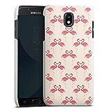 DeinDesign Cover kompatibel mit Samsung Galaxy J5 Duos 2017 Lederhülle Leder Hülle Leder Handyhülle Flamingo Pink Summer