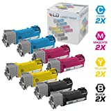 LD Compatible Toner Cartridge Replacements for Dell Color Laser 2150 & Dell Multi-Function 2155 High Yield (2 Black, 2 Cyan, 2 Magenta, 2 Yellow, 8-Pack)