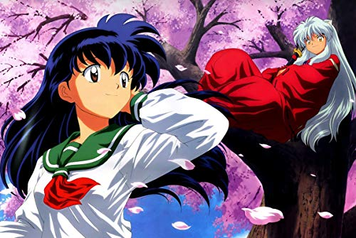 Inuyasha Puzzles, Wooden Puzzles 300/500/1000 Pieces, Higurashi Kagome Adult Creative Gift Decompression Jigsaw Puzzles Cartoon Educational Toys for Children (Size : 1000)
