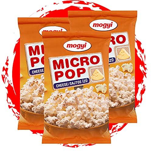 Mogyi Mikrowellen Popcorn Käse geschmack | Popcorn Mais fix und fertig - wie im Kino | Micro Popcorn einfach lecker - Naschen erwünscht | Party Pack 3x100g