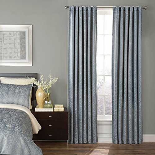 "Beautyrest Avignon Blackout Window Curtain, 52"" x 95"", Smokey Blue"