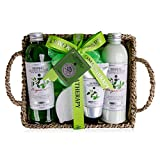 Accentra Set de baño Herbal Wellness y Spa de Accentra en cesta de algas marinas - Precioso set de regalo de 6 piezas para cualquier ocasión, 1 unidad