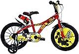Dinobikes Kinderfahrrad Bicicleta, Niños, Rojo, 16'