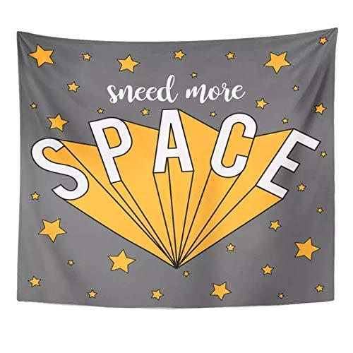N/A Tapiz Alien Moon Sneed More Space Slogan increíble Astronauta bebé niñodecoración del hogar Tapiz Colgante de Pared para Sala de Estar Dormitorio