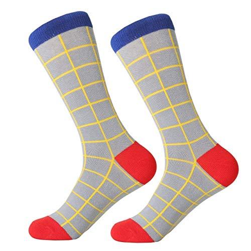 GUOWAZ Datum Männer Kleid Farbe Komfortable Paar Rollschuh Für Kausalen Grund Lustige Hochzeit Socken Socken Shark Geometrie 1468C