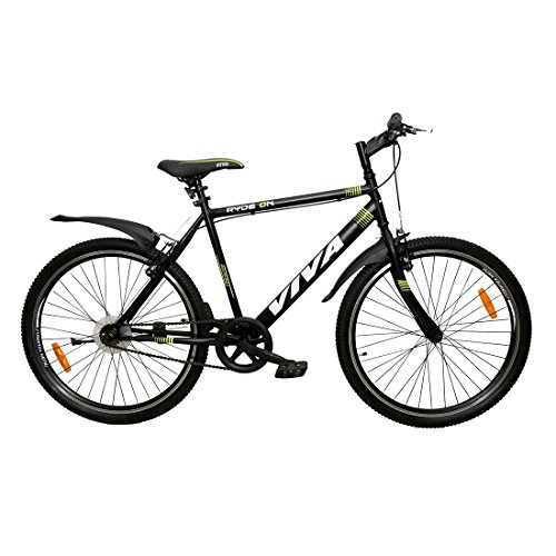 Viva RYDE On 26T Single Speed Mountain Bike (Black, Ideal For : 12+...