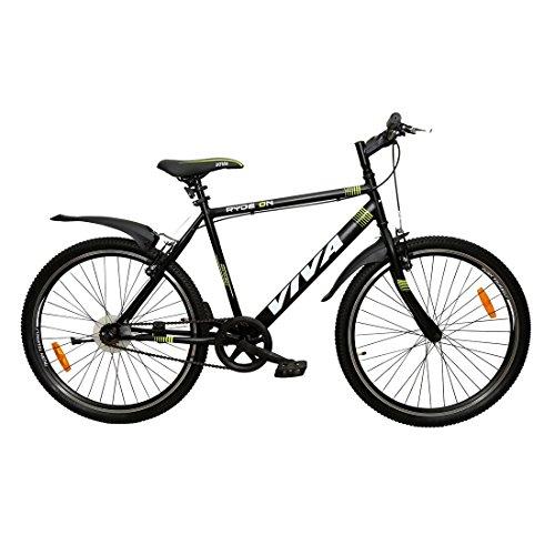 Viva RYDE On 26T Men's Single Speed 19, Steel Mountain Bike (Black,...