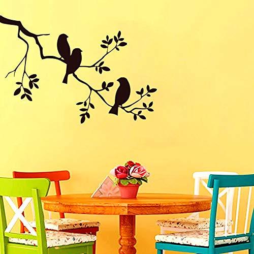 yaonuli Three Birds On The Tree Adhesivos de Pared Decoración del hogar Autoadhesivo Adhesivo de Pared en Color Personalizado 50X74cm