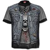 Spiral - Thrash Metal - Camiseta con Estampado Completo - Negro - L