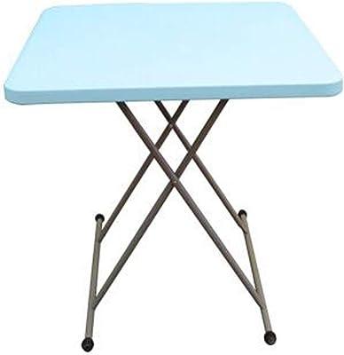 Card Tables Folding Home Simple Dining Table Portable Small Table Home Small Dining Table Lightweight Rectangular Table Annacboy (Color : Blue)
